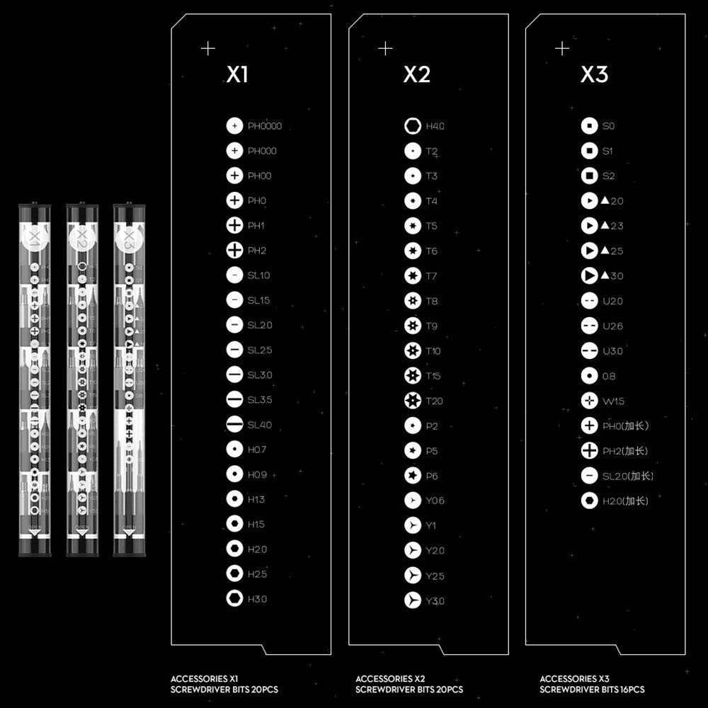 Hasta 56 accesorios Wowstick 1 F
