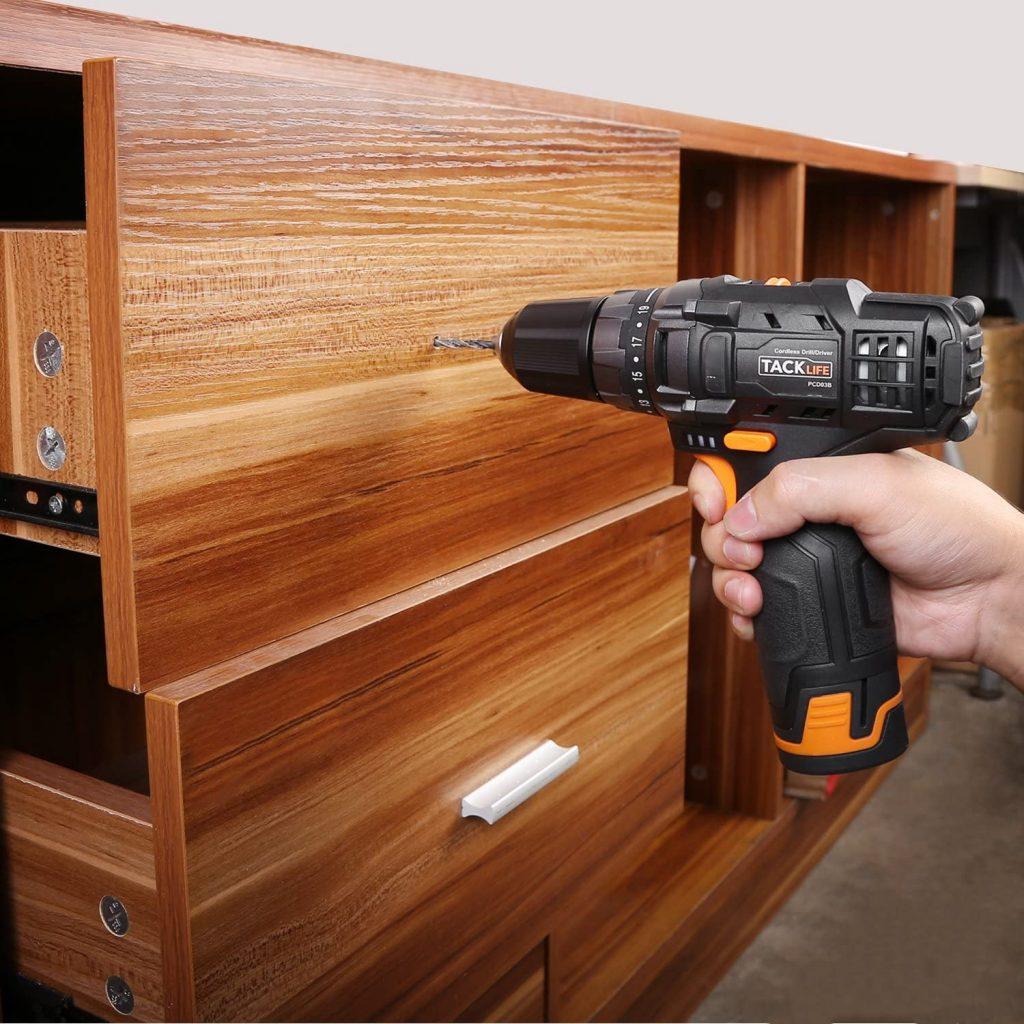 Perfore superficies de madera sin problemas tacklife pcd03b