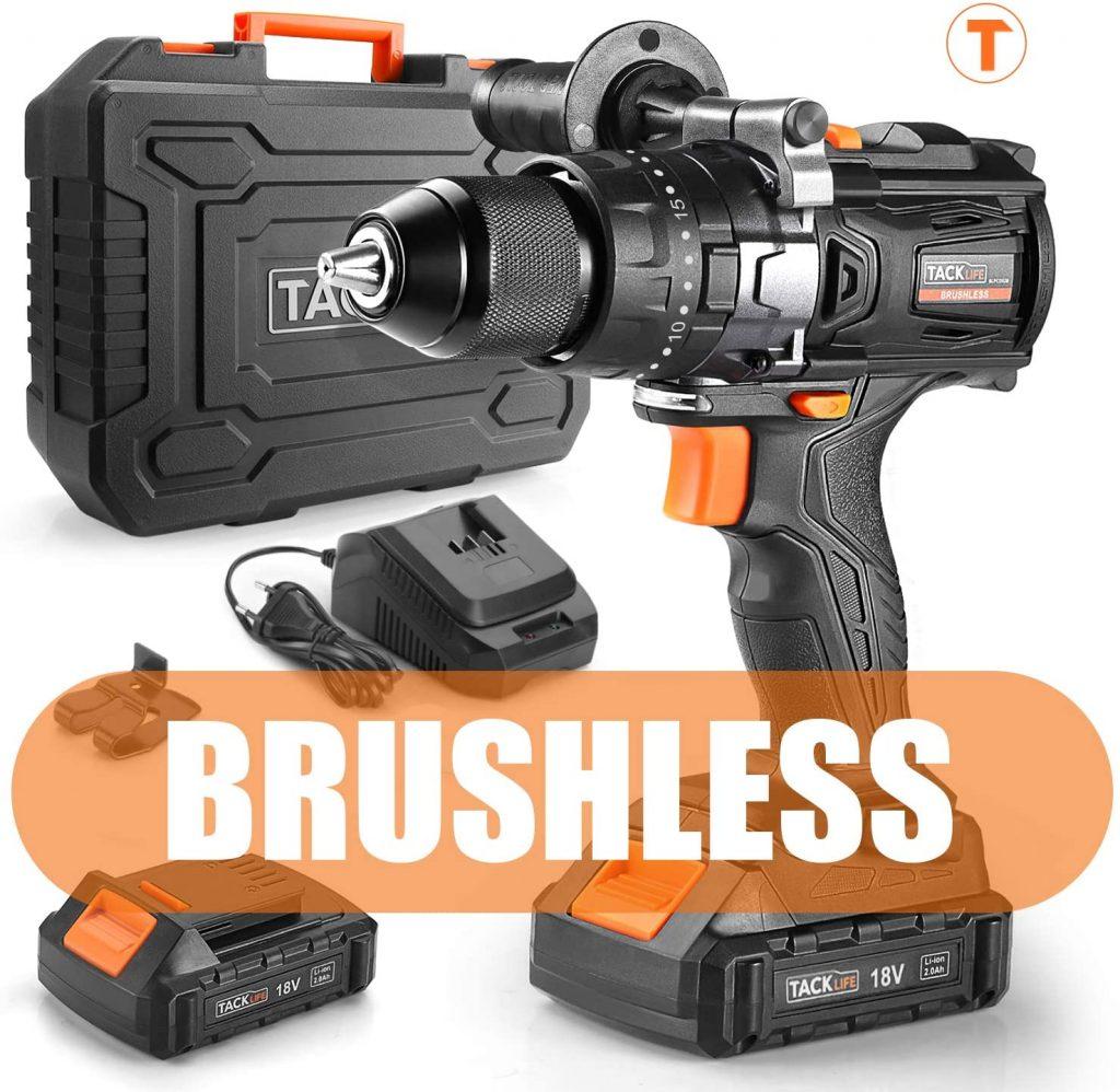Taladro eléctrico brushless Tacklife BLPCD02B