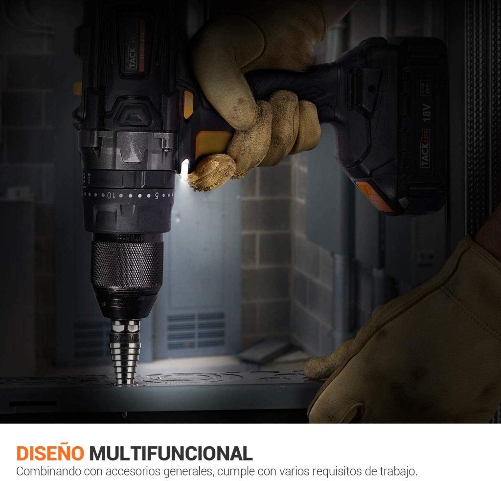 Diseño compacto y multifuncional Tacklife BLPCD02B